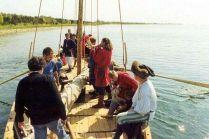 Wodowanie wikińskiej łodzi
