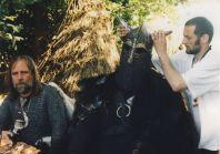 Stara Baśń - kiedy słońce było bogiem - po lewej jarl Einar autentyczny wódz grodu wikingów Jomsborg w Warszawie