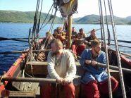Wikingowie w łodzi