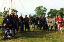 Wodowanie wikińskiej łodzi - drużyna Jomsborga