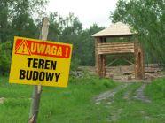 Teren budowy nowej Warowni Jomsborg w Warszawie